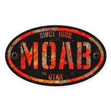Moab Grunge Rivet Red Decal