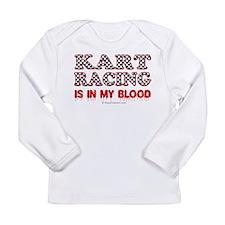 Kart Racing Blood Long Sleeve T-Shirt