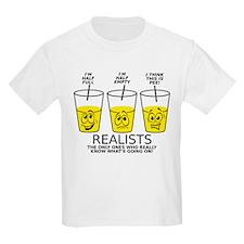 Glass Half Full Empty Pee Funny T-Shirt T-Shirt
