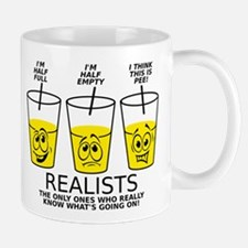 Glass Half Full Empty Pee Funny T-Shirt Mug