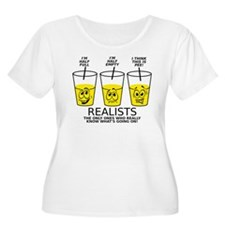 Glass Half Full Empty Pee Funny T-Shirt Plus Size