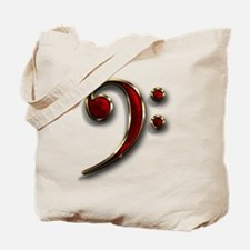 Bass Clef Logo Tote Bag 2-sided