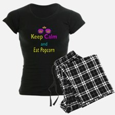 Crown Sunglasses Keep Calm And Eat Popcorn Pajamas