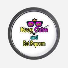 Crown Sunglasses Keep Calm And Eat Popcorn Wall Cl
