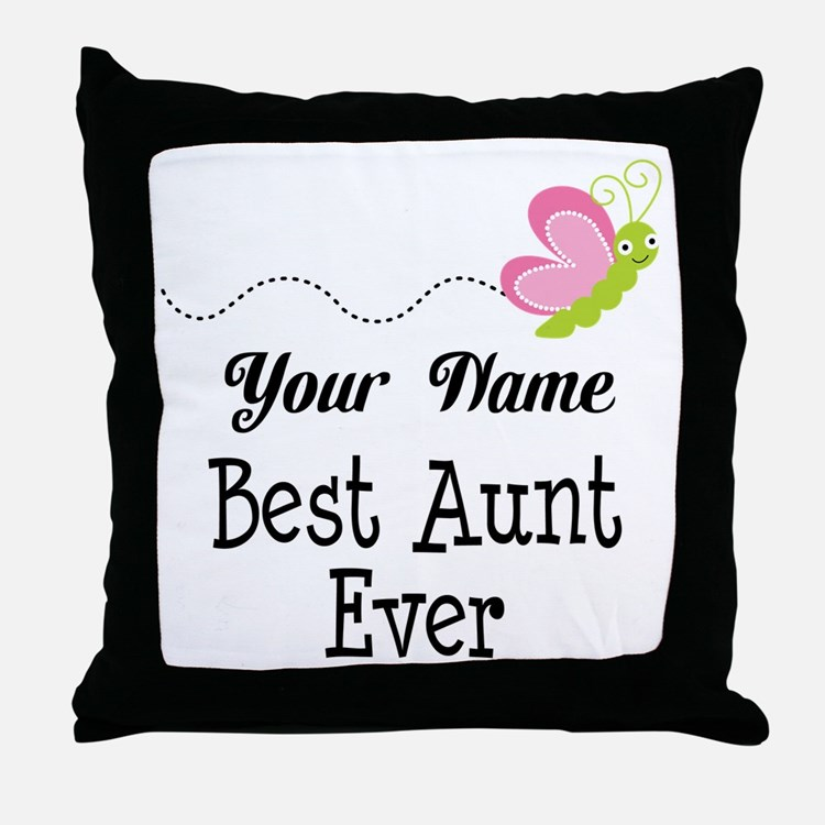 Personalized Best Aunt Throw Pillow