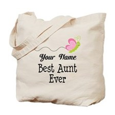 Personalized Best Aunt Tote Bag