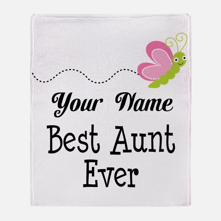 Personalized Best Aunt Throw Blanket