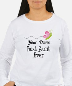 Personalized Best Aunt T-Shirt