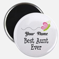 Personalized Best Aunt Magnet