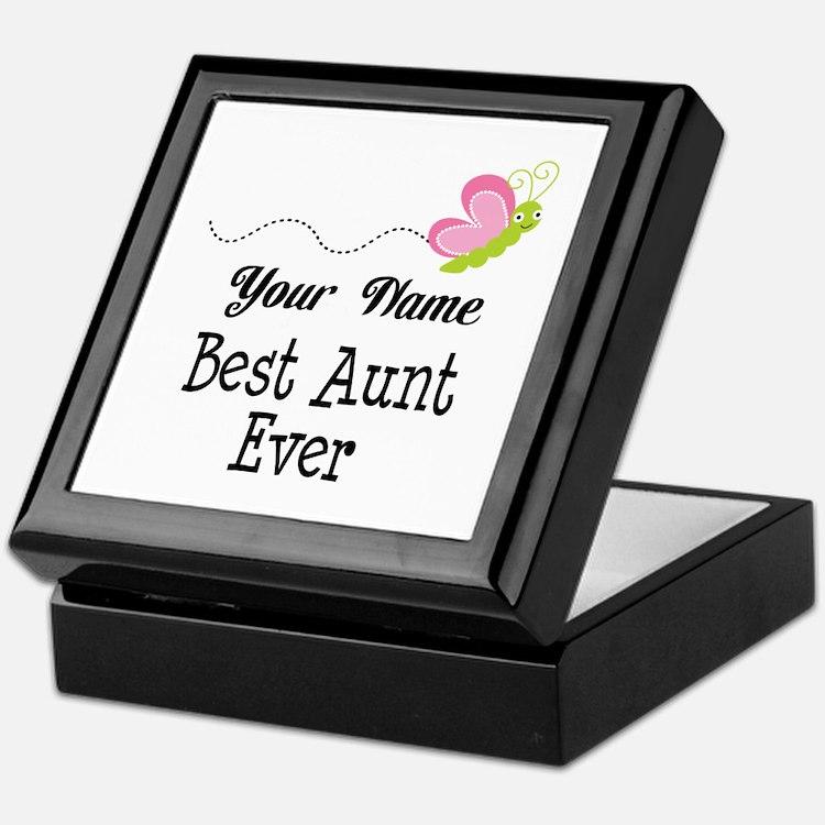 Personalized Best Aunt Keepsake Box