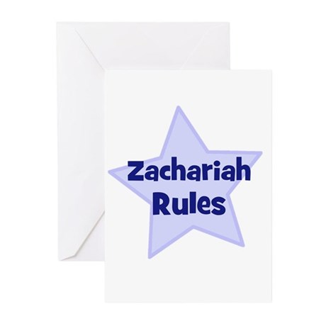 Zachariah Rules Greeting Cards (Pk of 10)