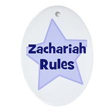 Zachariah Rules Oval Ornament