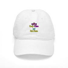 Crown Sunglasses Keep Calm And Eat Pizza Baseball Cap