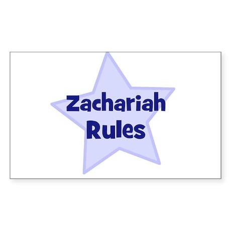 Zachariah Rules Rectangle Sticker