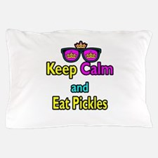 Crown Sunglasses Keep Calm And Eat Pickles Pillow