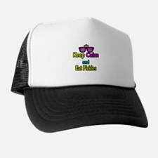 Crown Sunglasses Keep Calm And Eat Pickles Trucker Hat