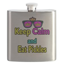 Crown Sunglasses Keep Calm And Eat Pickles Flask