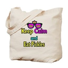 Crown Sunglasses Keep Calm And Eat Pickles Tote Ba