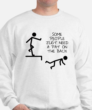 A Pat On The Back Funny T-Shirt Jumper