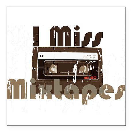 """Mix tape Square Car Magnet 3"""" x 3"""""""