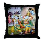 Ganesh and Krishna Throw Pillow