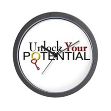 Unlock Your Potential Wall Clock