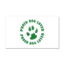 Proud dog lover green Car Magnet 20 x 12