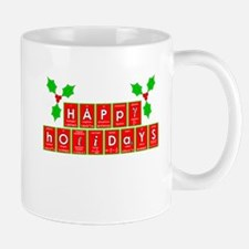 happy holidays letters.png Small Small Mug