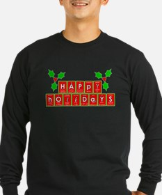 happy holidays letters.png Long Sleeve T-Shirt