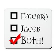 Edward, Jacob, BOTH! Mousepad