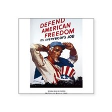 Defend American Freedom Rectangle Sticker