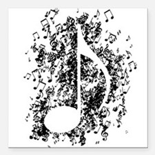 """Note Explosion Square Car Magnet 3"""" x 3"""""""
