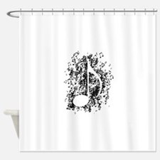 Note Explosion Shower Curtain