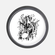 Note Explosion Wall Clock
