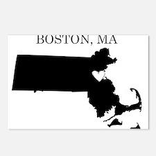 Boston Massachusetts Postcards (Package of 8)
