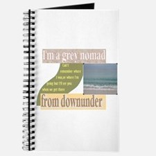 grey nomad funny Journal