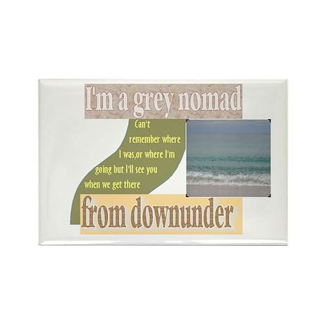 grey nomad funny Rectangle Magnet (100 pack)