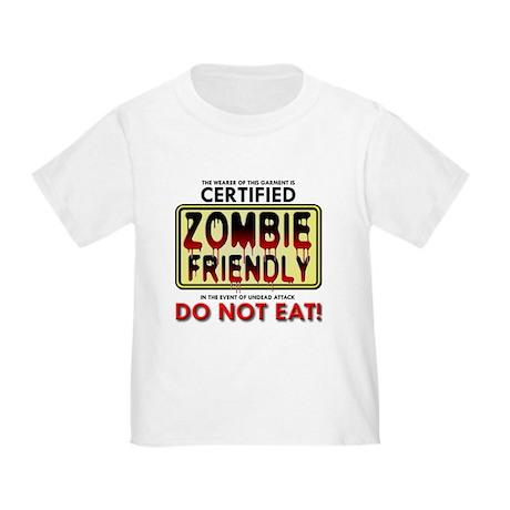 Zombie Friendly Do Not Eat Funny T-Shirt T-Shirt