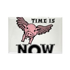 When Pigs Fly The Time Is Now Funny T-Shirt Rectan
