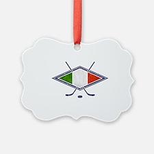 hockey su Ghiaccio Italiano Flag Ornament
