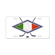 hockey su Ghiaccio Italiano Flag Aluminum License