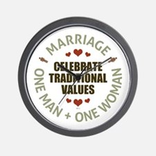 Celebrate Traditional Values Wall Clock