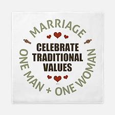 Celebrate Traditional Values Queen Duvet