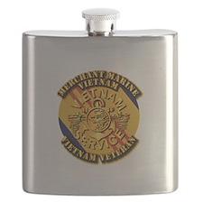 USMM - Merchant Marine - Vietnam Vet Flask