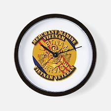 USMM - Merchant Marine - Vietnam Vet Wall Clock