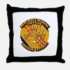 USMM - Merchant Marine - Vietnam Vet Throw Pillow