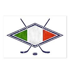 hockey su Ghiaccio Italiano Flag Postcards (Packag