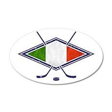 hockey su Ghiaccio Italiano Flag Wall Decal