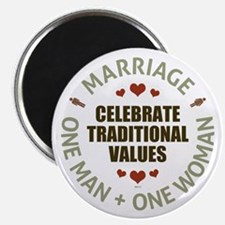 """Celebrate Traditional Values 2.25"""" Magnet (10 pack"""