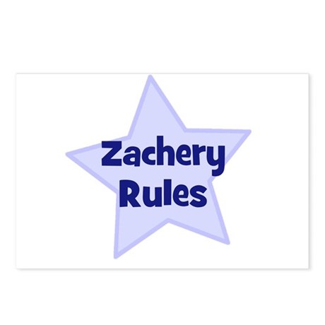 Zachery Rules Postcards (Package of 8)